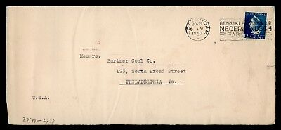Dr Who 1940 Netherlands Rotterdam To Usa Censored C60161