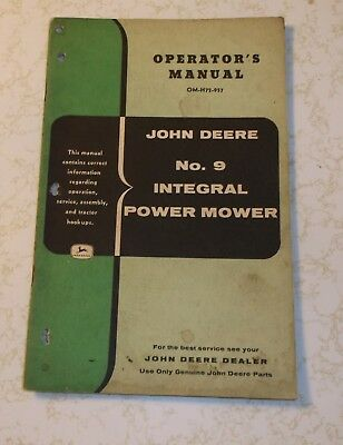 Vintage Original John Deere No. 9 Integral Power Mower