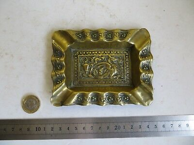 Antique? or Vintage? Brass Chinese Dragon Ashtray Card Coin Pin Dish Ash Tray
