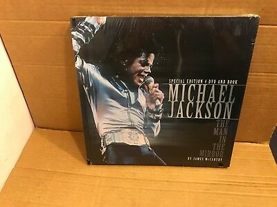 Michael Jackson 4 DVD and Book, The Man in The Mirror, by James McCarthy
