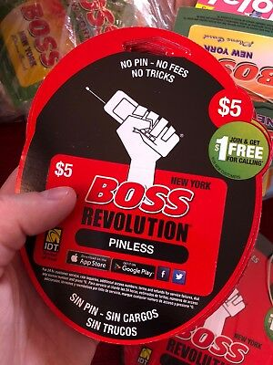 BOSS Revolution $5 Calling Card | No Shipping | YOU GET ACTIVATION CODE