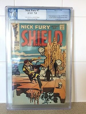 Nick Fury Agent of Shield #7 PGX 7.0 NOT CGC