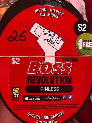 BOSS Revolution $2 Calling Card | No Shipping