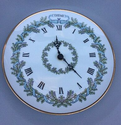 So Cute, Vintage Franklin Mint, Thyme Wall Clock Plate, Gloria Concepts