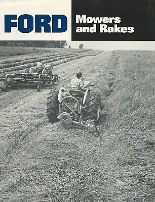 Vintage Ford Mowers & Rakes Brochure 501 515 503 508 8 Pages #AD 6034-A 47150