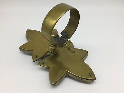 Antique 19th Century Brass & Wood Wall Mounted Candle Holder Maple Leaf Design