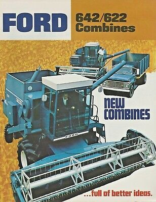 Vintage Ford 642 622 Combines Sales Brochure 12 Pages AD-6873 77150
