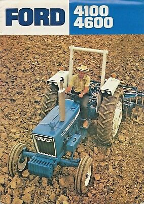 Vintage Ford 4100 4600 Sales Brochure 12 Pages AD-8698 1075100