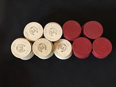 85 Antique Vintage Inlaid Clay Poker Chips BA Stockton CA Golden Gate Club