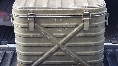 Vintage US 1955 Army Military Mess Food Container Hot Cold insulated