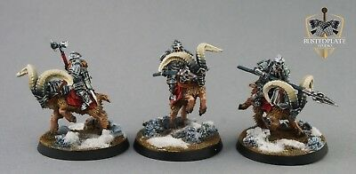 Lord of The Rings (LOTR) /Hobbit  - 3x Dain Goat Riders - Dwarf - PAINTED