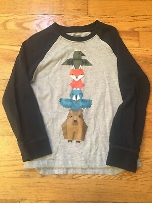 Gymboree Boys 5T Long Sleeve Animal Totem Pole Shirt