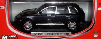 car 1/18 MONDO 50044 PORSCHE CAYENNE TURBO 2004 MET BLACK NEW BOX