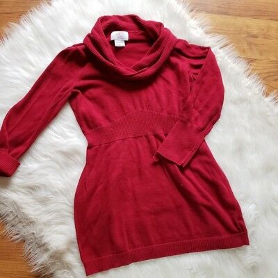 Oh Baby Motherhood Maternity Red Cowl Neck Sweater Women's Size Small