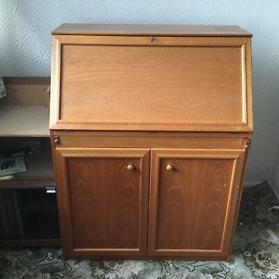 teak bureau writing desk very good condition