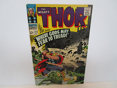 THOR  # 132 Marvel F/VFice shape Glossy &Tight Guides at $200 1st LIV. PLANET