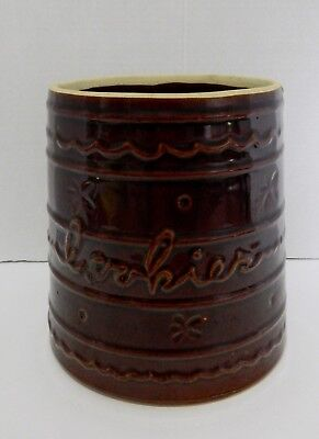 Marcrest Stoneware Cookie Jar Oven Proof Daisy Dot Pattern USA No Lid
