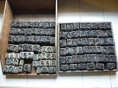 Vintage wood / copper printing blocks for cloth from Lancashire mill