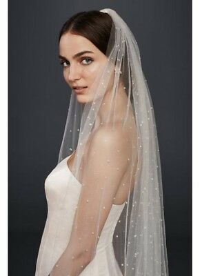 David's Bridal Scattered Crystal Cathedral Veil