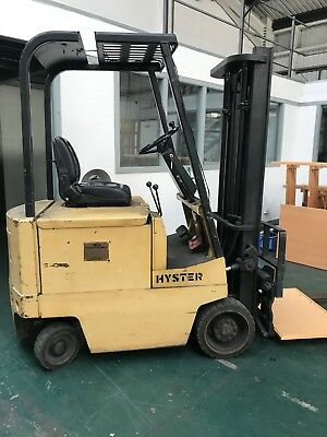 Hyster Electric 2 Pron 4 Wheel Forklift 1044.2 Hours Serviced With Pb Battery