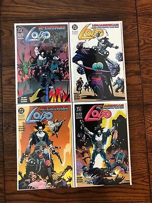 LOBO UNAMERICAN GLADIATORS Complete Comic Book Run Lot #1 2 3 4 VF/NM Comics
