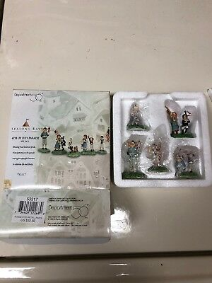 Dollhouse Miniatures ~ Department 56 ~ Seasons Bay 4th of July Parade Set of 5 ~