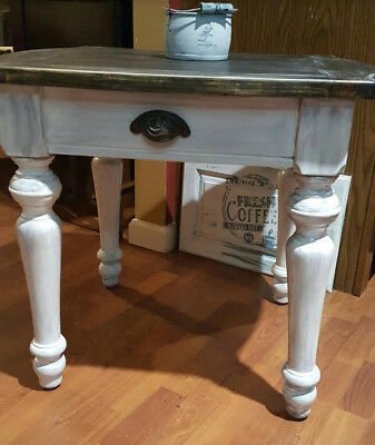Refinished Vintage Goth/Medieval Style End Table
