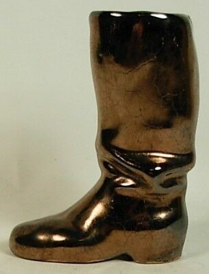 Rosemeade North Dakota Pottery Metallic Glaze Boot