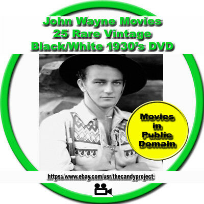John Wayne Movie Westerns Fell Into Public Domain 25 Videos Mp4 DvD