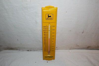 Vintage 1970's John Deere Tractor Farm Gas Oil Metal Thermometer Sign~Nice/Works