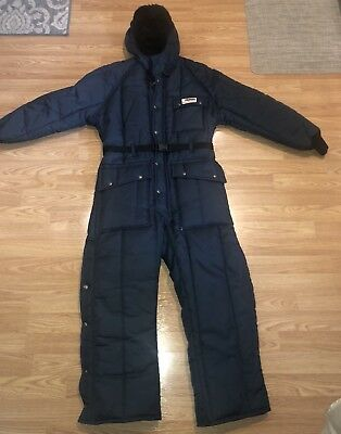 VINTAGE WALLS  Blizzard Pruf Insulated Waterproof JumpSuit Snowsuit SMALL SHORT