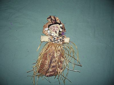 Vintage Handmade Primitive Looking African Doll 9 inch Stuffed