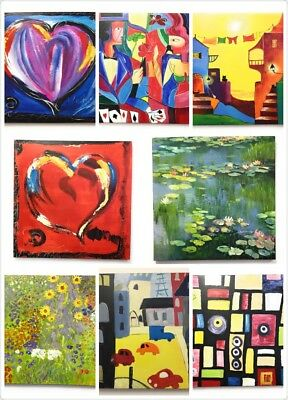 Large Square Abstract Oil Painting Canvas Wall Art Home Decor FRAMED 80cm x 80cm