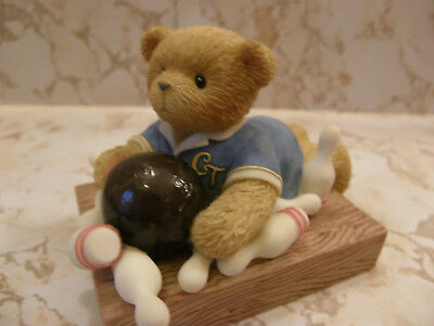 Cherished Teddies BRYCE 731870 BOY BOWLING WITH IC CHIP   NEW
