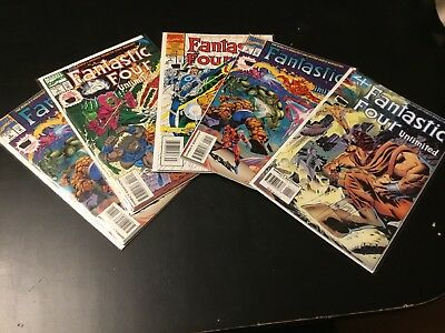 Fantastic Four Unlimited Comic Book Lot Of 5