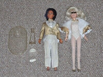Jem & the Holograms Glitter 'n Gold Jem/Jerrica & Rio Doll Lot with Accessories