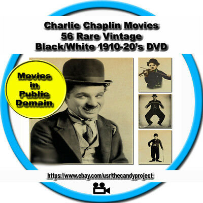 Charlie Chaplins Movie Silent Funny Fell Into Public Domain Vintage 50 Mp4 DvD