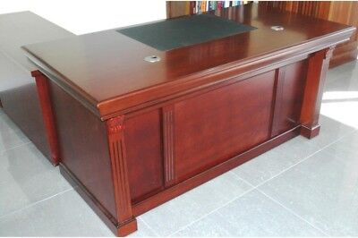 Executive Desk inmahogany colour with 1.2m lower return and mobile pedestal