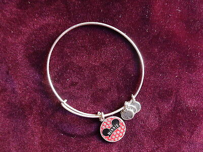 Alex and Ani, Disney Parks, Minnie Mouse Hat Ears, Retired 2014 Silver Bracelet