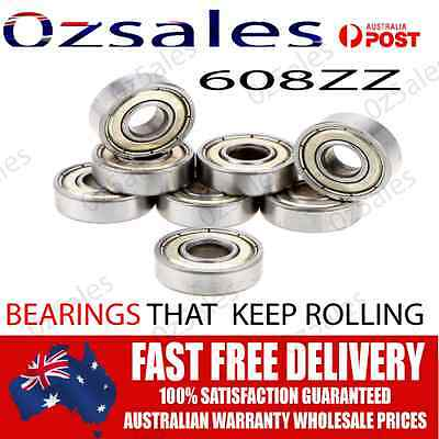 Oz Seller 4x 608ZZ Bearings ABEC 7 Scooter Ball Skateboard Skate Ball Wheel