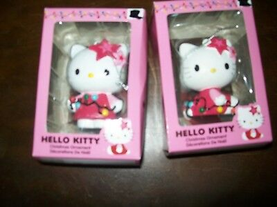 lot of 2 Hello kitty 2014 Christmas Ornaments these are in the original box