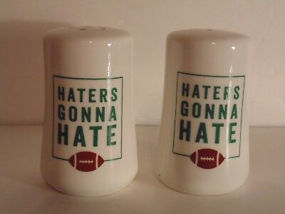 Haters Gonna Hate Football Salt and Pepper Shakers New