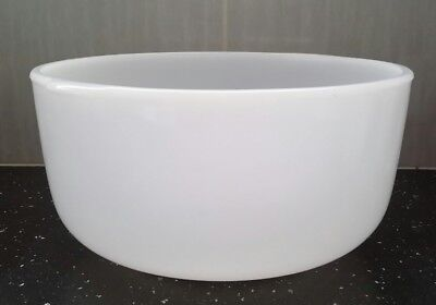 Vintage Milk Glass Genuine Sunbeam Mixing Bowl Large Size ~ Clean ~ GUC