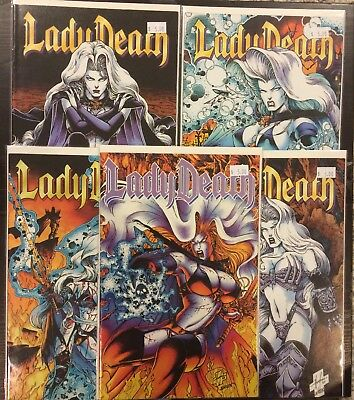Lady Death Lot #3 1994, Odyssey 2 3 4, & The Reckoning Encore ~VF Chaos! Comics