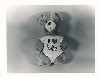 Original 4x5 Found Photo Vintage Snapshot Beatles Fan Club Teddy Bear