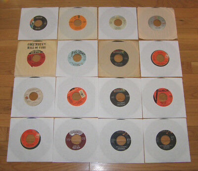 VINTAGE 45 rpm RECORDS LOT OF 16 - FROM THE 70's,80's,90's - IN VERY GOOD COND