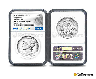 2018 W Palladium American Eagle Pd$25 Ngc Pf70 Ultra Cameo First Releases