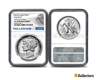2018 W Palladium American Eagle Pd$25 Ngc Pf70 Ultra Cameo First Day Of Issue