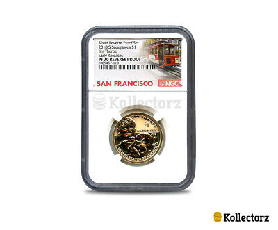 2018 S Reverse Sacagawea 50Th Anniv. $1 Jim Thorpe Ngc Pf70 Early Releases