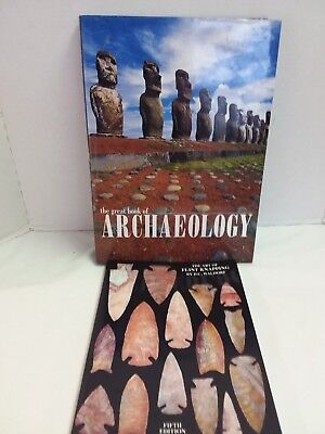The Art of Flintknapping Book Arrowheads & The Great Book of Archaeology